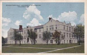 Missouri Columbia Schweitzer Hall University Of Missouri 1920