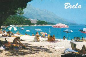 Croatia Brela Beach Scene