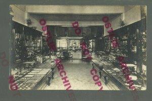 Glencoe MINNESOTA RPPC c1910 INTERIOR JEWELRY STORE Advertising nr Hutchinson