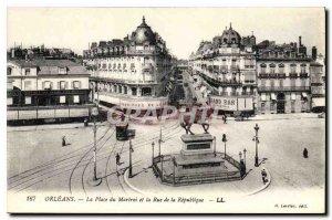 Old Postcard Orleans Place du Martroi and the Rue de la Republique