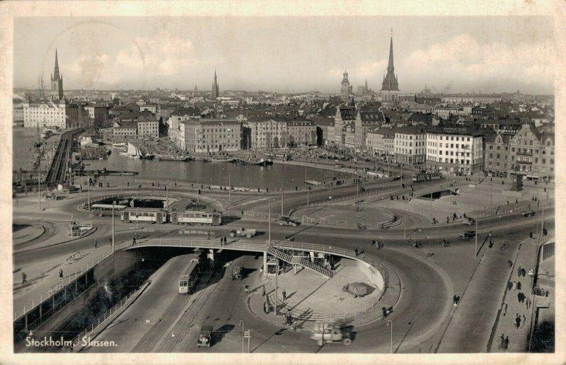 Sweden Stockholm Slussen Real Photo 03.74