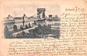 Budapest Republic of Hungary Lanczhid Kettenbrucke Budapest Lanczhid Kettenbr...