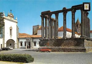 Portugal Evora Pousada Dos Loios Front and Roman Temple