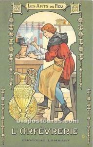 Advertising Postcard - Old Vintage Antique Les Arts du Feu L'Orfevrerie ...
