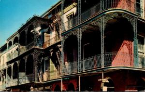 Louisiana New Orleans Lace Balconies Saint Peter Street