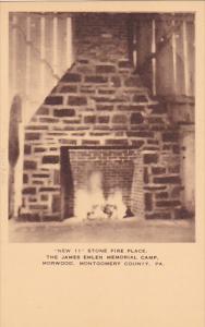 Stone Fireplace James Emlen Memorial Camp Morwood Montgomery County Pennsylva...