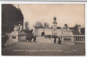 Portsmouth; War Memorial To The Memory Of The Brave RP PPC, 1922 PMK, Photochrom