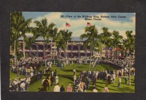FL Horse Racing, Racetrack, Hialeah Race Track, Miami Florida Postcard Linen