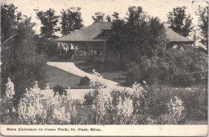 St Paul Minnesota Main Entrance to Como Park 1912
