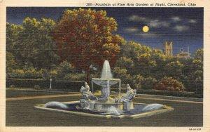 LP19  Cleveland Ohio Fine Arts Garden Fountain       Postcard
