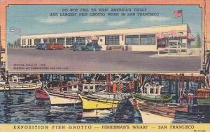 Californa San Francisco Exposition Fish Grotto Fishermans Wharf