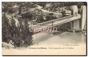 Old Postcard Suspension Bridge on the Verdon Greoux les Bains