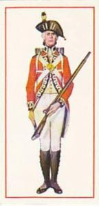 Carreras Vintage Cigarette Card Military Uniforms 1976 No 10 Private 1791 Fir...