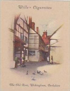 Wills Cigarette Card Old Inns 2nd Series No 4 Old Rose Wokingham Berkshire