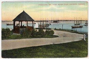Portland, Me, Fort Allen Park, Showing Harbor