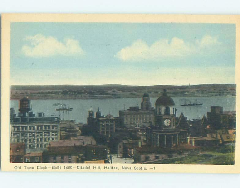 Unused W-Border TOWN VIEW SCENE Halifax Nova Scotia NS o1153