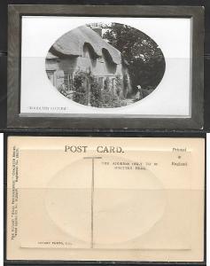 Woodland Cottage, Embossed English postcard