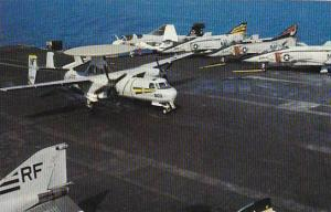 Aircraft Carrier U S S Midway CV-41 With E2B Hawkeye