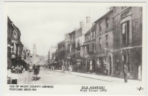Isle of Wight Libraries Series 804; Old Newport, High St c 1910 RP PPC, Pamlin