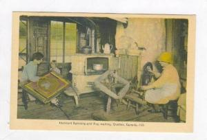 Habitant Spinning & Rug Making, Quebec, Canada, 20-40s
