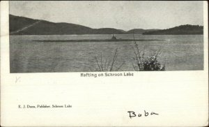 Rafting on Schroon Lake NY c1905 Postcard