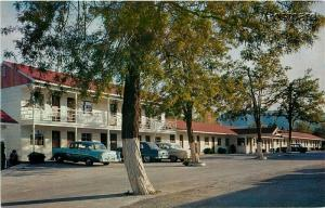 WA, Wenatchee, Washington, Lyles Motel, 1950s Cars, George Mood No. 58880-2