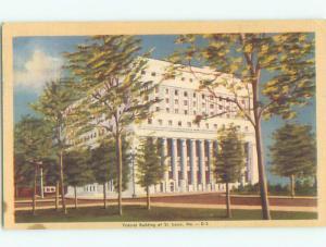 Linen COURT HOUSE St. Louis Missouri MO n4662
