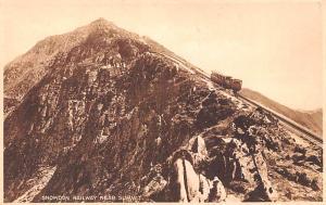United Kingdom, Great Britain, England Snowdon Railway near Summit  Snowdon R...