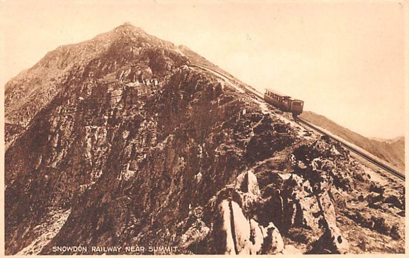 United Kingdom, Great Britain, England Snowdon Railway near Summit  Snowdon R...