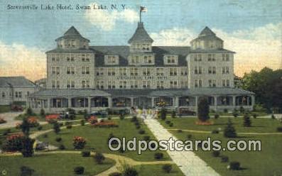 Stevensville Lake Hotel, Swan Lake, NY, USA Motel Hotel Postcard Post Card Ol...