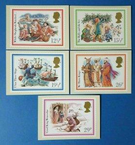 Set of 5 PHQ Stamp Postcard Set No.64 Christmas 1982 BX6