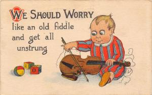 Comic Pun~We Should Worry Like Old Fiddle~Get Unstrung~Baby Plays With Violin~PC