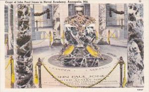 Maryland Annapolis John Paul Jones Crypt U S Naval Academy