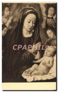 Postcard Museum of Old Master of Moulins Bruelles The Virgin and Child worshi...