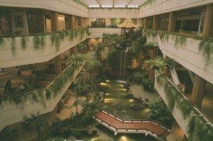 White Swan Hotel Atrium Lobby GuangZhou China Postcard