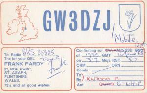Wales Flintshire Amateur Radio Club QSL Vintage Welsh Postcard