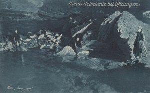HEIMKEHLE bei Uftrungen , Grosse Hohle Deutschlands (cave) , Germany , 1900-10s