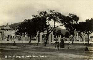 colombia, SANTA MARTA, Cementerio Católico, Catholic Cemetery (1934) RPPC