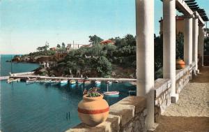 France Agay port semi-modern photo postcard