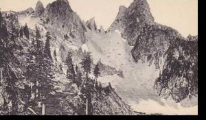 Washington Creater Lake Gunns Peak Albertype
