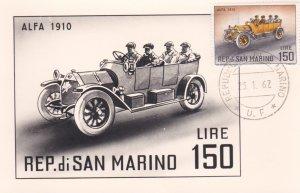 REP. di SAN MARINO, 1962, Maximum Card, Alpha 1910