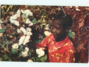 Pre-1980 Black Americana CHILD WORKING ON FARM AC7468
