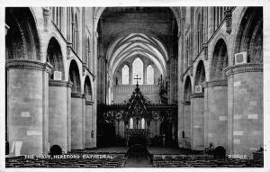 The Nave Hereford Cathedral Interior view Dom Die Kathedrale