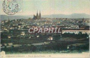 Old Postcard Clermont Ferrand View Quatre Chemins