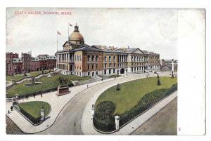 MA Boston State House Vtg UDB Bosselman Massachusetts Postcard ca 1905