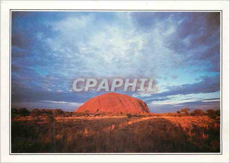 Modern Postcard Australia the monolith of Ayers Rock'n'roll
