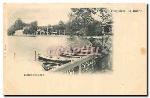 Old Postcard Embarcadere Enghien les Bains