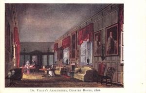 Vintage Postcard Dr Fishers Apartment Charter House, Godalming, Surrey (1816) #G