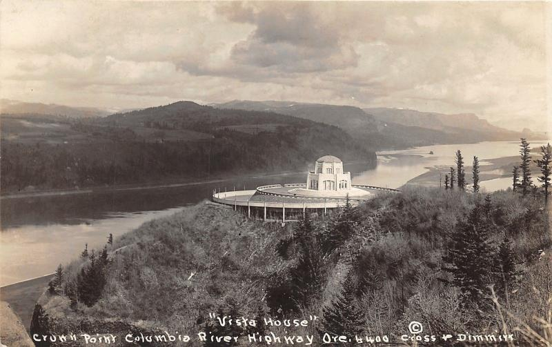 Columbia River Highway Oregon~Vista House @ Crown Point~c1920 RPPC-Postcard