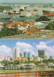 Hochiminh City Vietnam Riverside River Ship 2x Postcard s